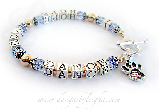 Gold I Hope You Dance Bracelet