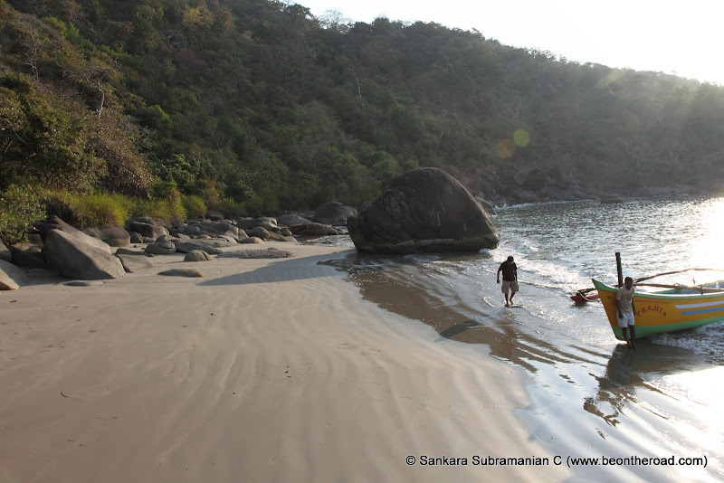 The small, but very pretty and remote Honeymoon beach