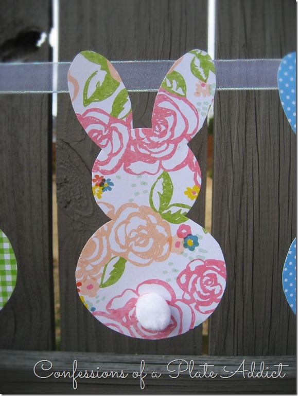 CONFESSIONS OF A PLATE ADDICT Pottery Barn Inspired Bunny Garland