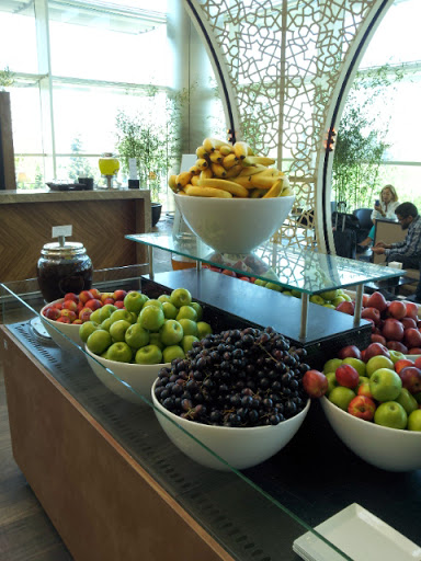 Fresh fruit in spades.  From What's It Really Like to Fly Turkish Airlines Business Class?
