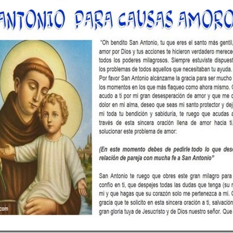 ORACIÓN a SAN ANTONIO CAUSAS AMOROSAS