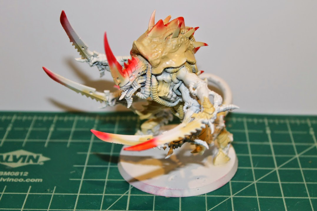 Swarmlord, after airbrushing the undercoat