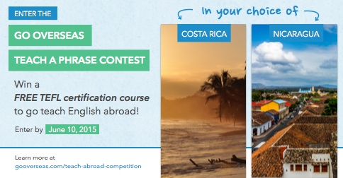 Win a Teach Abroad TEFL Scholarship!