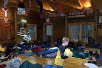 The sprawl of sleeping bags