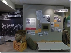 Exhibit in Alaska Highway House, Dawson Creek