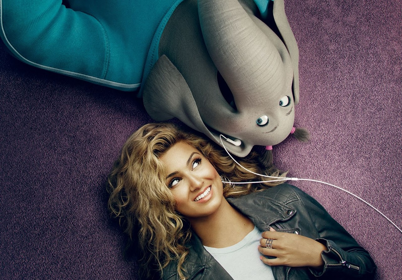 Tori Kelly and her SING character, Meena. (Photo courtesy of Illumination Entertainment and Universal Pictures).