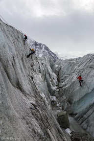 Mountaineering at Hoper glacier, Nagar valley