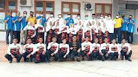 Di Dampingi Ketua Koni, Bupati Lepas Kontingen Pra PORA III Cabang Olahraga Drum Band Tahun 2021