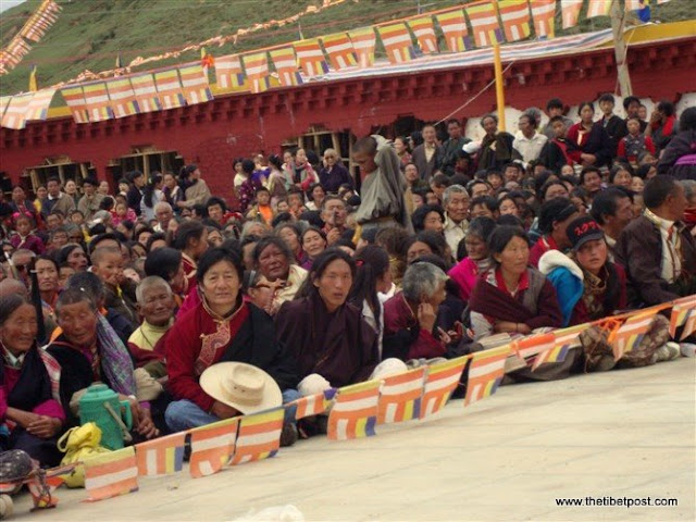 Massive religious gathering and enthronement of Dalai Lama's portrait in Lithang, Tibet. - l63.JPG