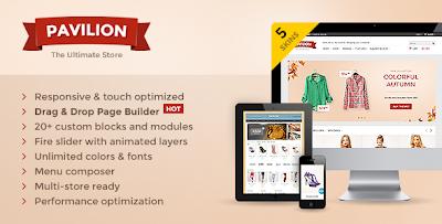 Mẫu website miễn phí Pavilion