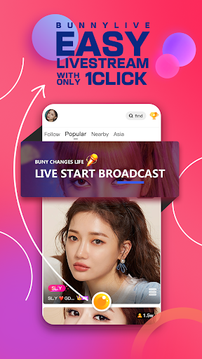 Bunny Live - Live Stream & Video chat 2.4.0 screenshots 1