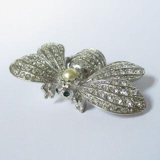 Joan Rivers Crystal Bee Pin