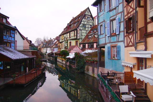 All is still in the early morning light on an early morning walk in Colmar, France