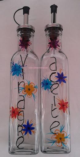 Olie en azijnstel gekleurde bloemen w.jpg