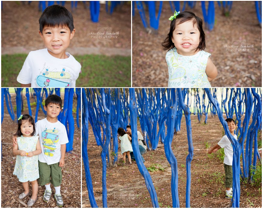 Toddler sibling photos - playing hide and seek