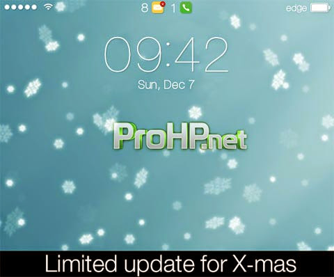 Se7en for X-mas Theme for  BlackBerry 1