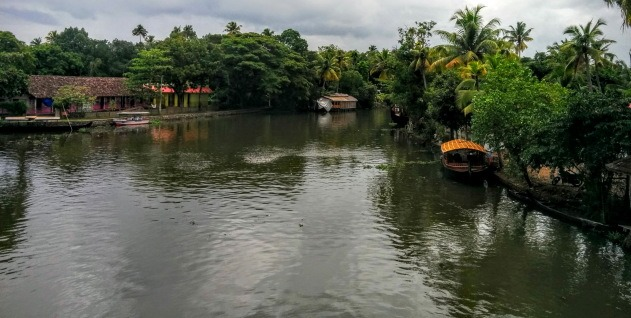 A bridge view from near Kumarakom, Kerala