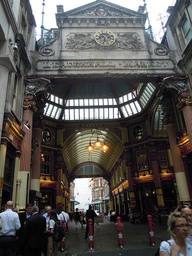 Leadenhall Market - site of Diagon Alley and the Leaky Cauldron! From best walking tours in London