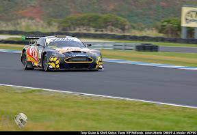 Tony Quinn & Klark Quinn. Team VIP Petfoods. Aston Martin DBRS9 & Mosler MT900