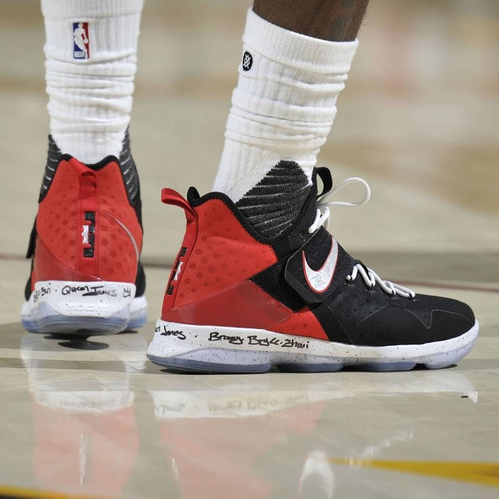 d090d0a6fd2fcc LeBron James Leads Cavs to 2-0 Series Lead in Nike LeBron 14 PE ...
