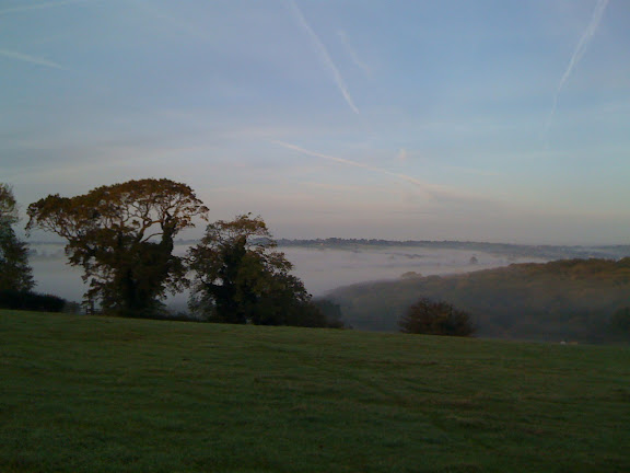 Morning Mist in the Chew Valley, looking West.