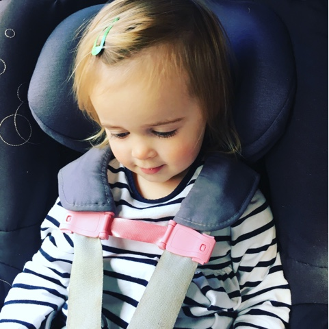 using the strap stop on the carseat