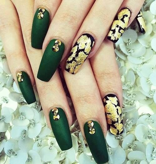 Dark Green Nail Polish Designs Hession Hairdressing
