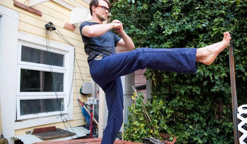 Navy Karate Casuals Yoga Kick