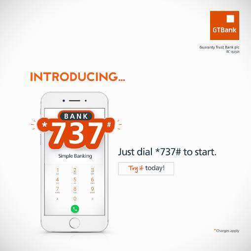GTB Bank 737 To Buy airtime-Transfer funds- Pay bills - Pay