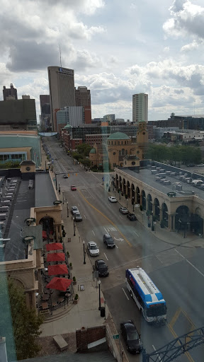Looking out the window toward downtown. Art and Luxury: Where to stay in Columbus, Ohio