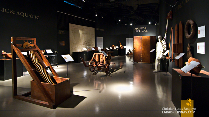 The Aquatic, Musical & Optical Galleries at The Mind Museum's Da Vinci The Genius Exhibit