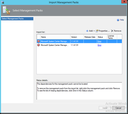 HYPER-V,SYSTEM CENTER AND AZURE: Unable to Import System
