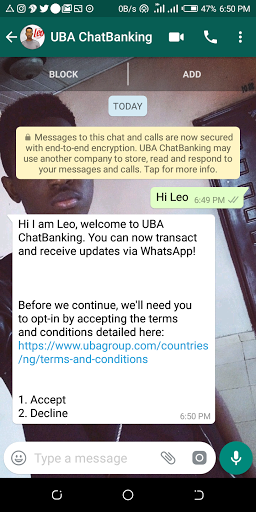 UBA Introduces Whatsapp Banking - Here's How To Start Using It 2