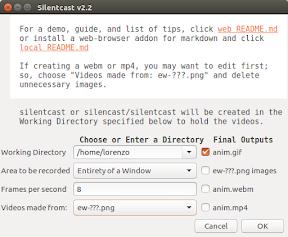 Como grabar vídeo en gif en Ubuntu y derivados - silentcast imagen 2