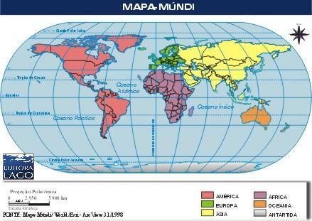 Mundo Mapa Mndi  Continentes