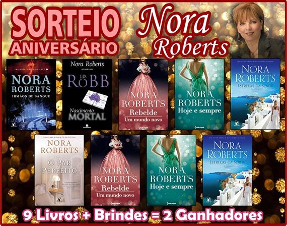 Banner Grande Sorteio Aniversário Nora Roberts