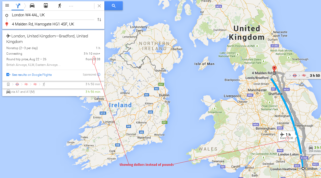 Showing Usdollars Instead Of Pounds In Uk Map Mapy Google Pomoc