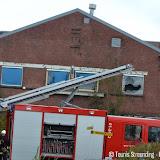 Brand in leegstaand pand aan Industrieweg West Oude Pekela - Foto's Teunis Streunding