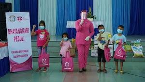 Memperingati HKGB ke-68, Bhayangkari Cabang Simalungun Berikan Bantuan Sosial ke Panti Asuhan