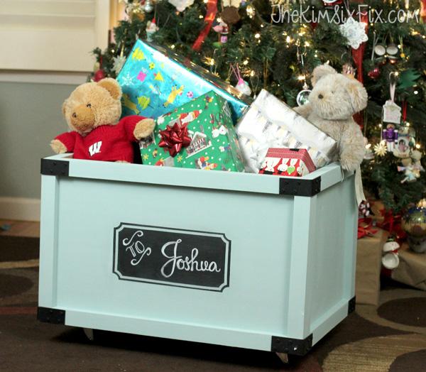 Custom toy box for Christmas