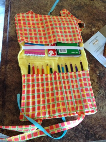 Inside of Pencil and Notebook Case Pattern