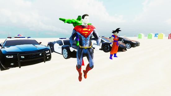 SuperHero Cop Car Stunt Screenshot