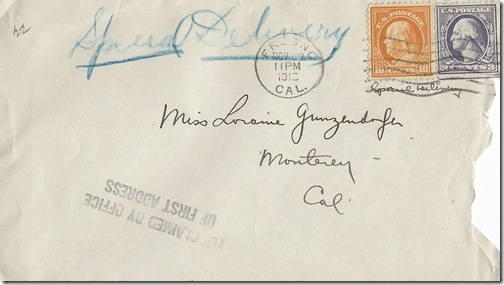 November 29 1918 envelope