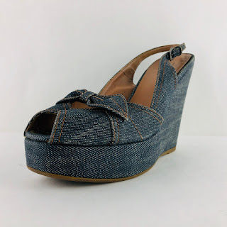 Alaïa Denim Platforms