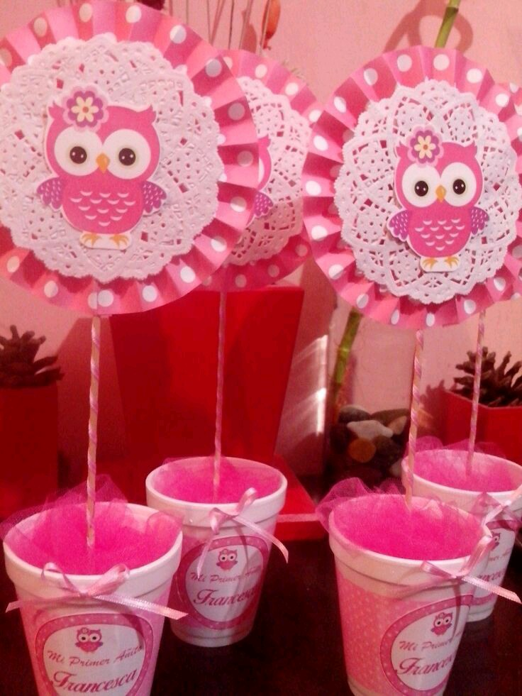 15 Increbles Centros De Mesa Para Un Baby Shower Rosa