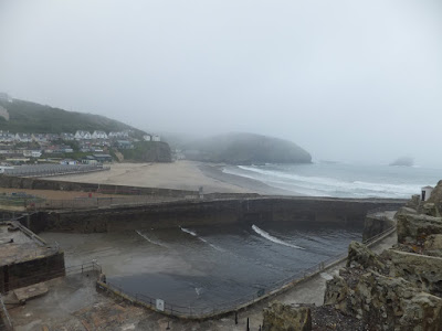 Portreath beach from Lighthouse Hill