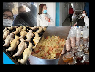 Pollo y ensalada rusa