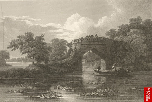 Remains of a bridge near Tangi-Bazar by D'Oyly in 1814