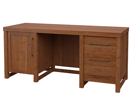 Sumatra Executive Desk in Itasca Maple