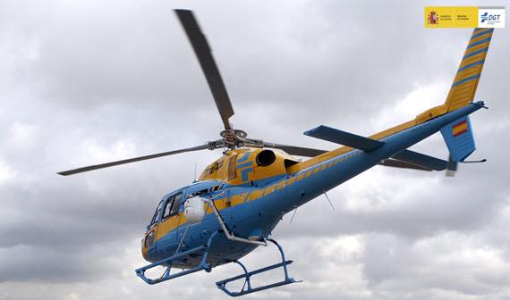 El helicóptero radar Pegasus controla un vehículo cada tres minutos